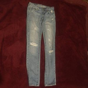 American Eagle Skinny 77 Ripped Jeans Size 0
